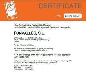 IATF 16949 FUNVALLES 2021